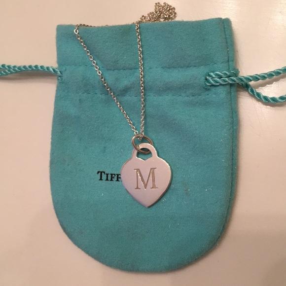 "c0afcbc93 Tiffany alphabet heart tag letter ""M"" charm. M_5aba8fa0d39ca2b1875f9470"